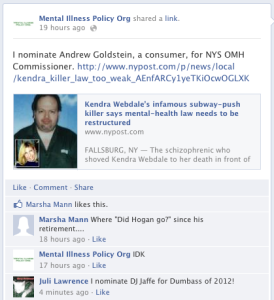 DJ Jaffe nominates Subway Killer for head of New York's Office of Menta Health